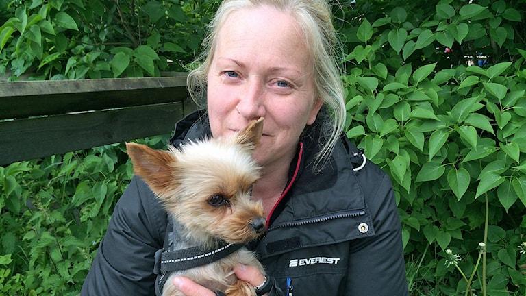 Hundpsykologen Lotta Nilsdotter. Foto: Titti Elm/Sveriges Radop
