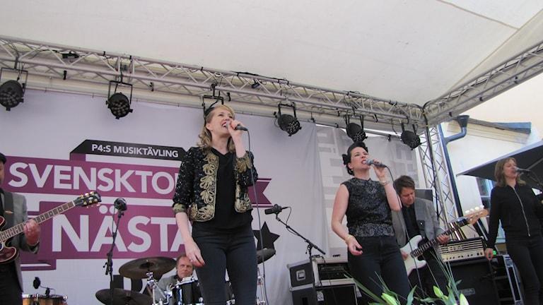 Matilda Grün och Jessica Stendahl /Foto Rosmari Karlsson Sveriges Radio