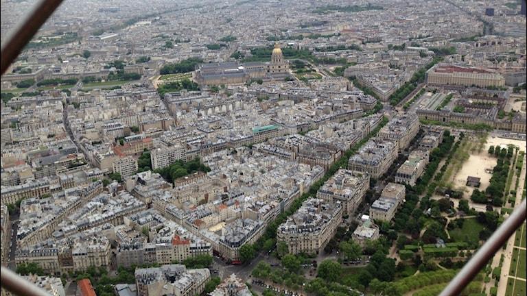 Paris från Eiffeltornet.  Foto: Cia Sivertsdotter/Sveriges Radio
