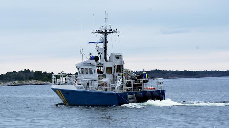 Kustbevakningens båt, Fyrudden, Gryt.