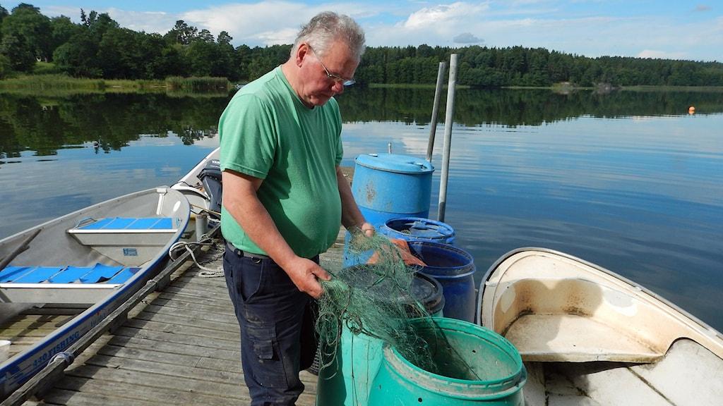 Christer Karlsson, fiskare i Gryt. Foto: Christian Ströberg/Sveriges Radio.