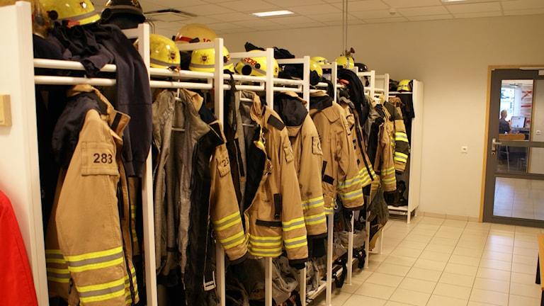 Omklädningsrum räddningstjänsten