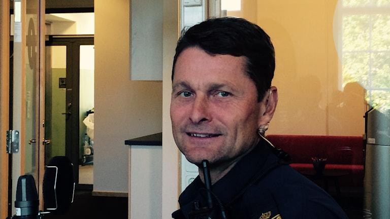 Trafikpolis Thomas Jönsson. Foto Rosmari Karlsson/Sveriges Radio