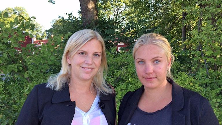 Malin Walter och Sofia Skill. Foto: Rosmari Karlsson/Sveriges Radio