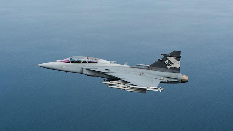 Gripenplan i luften. Foto: Saab