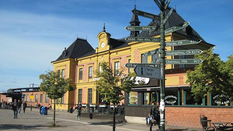 Resecentrum i Linköping. Hur framtidens resecentrum ser ut när Ostlänken kommer är ännu inte klart. Foto: Christian Ströberg/Sveriges Radio.