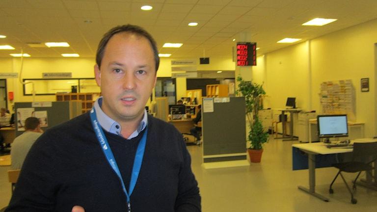 Sektionschef Per Engdahl på Arbetsförmedlingen i Motala. Foto: Raina Medelius/Sveriges Radio