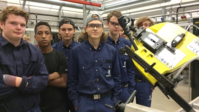 Elever på Curt Nicolin Gymnasiet. Foto: Titti Elm/Sveriges Radio