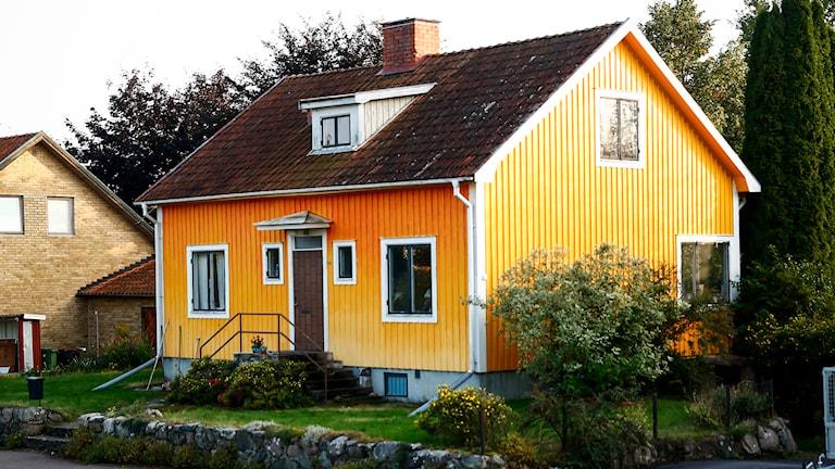 Gula huset i Skänninge. Foto: Stefan Jerrevång/TT