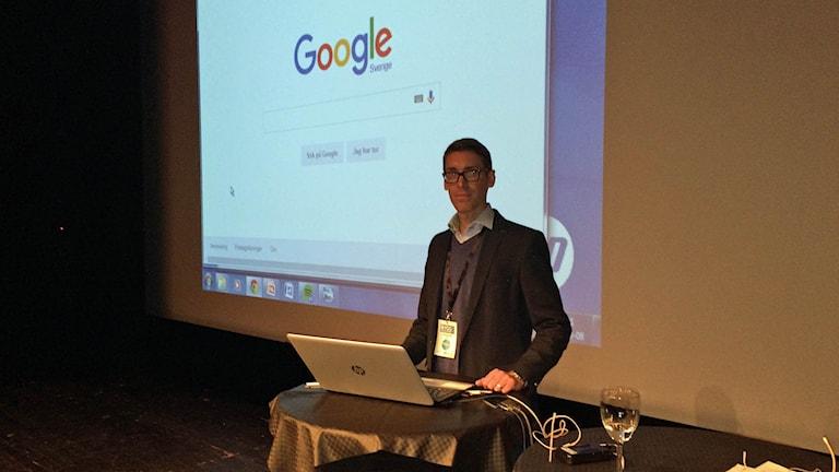 Jonas Wallentin, chefsanalytiker på Google. Foto: Johan Gustafsson P4 Östergötland