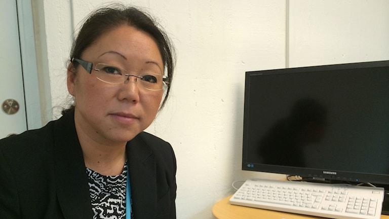 Försvarsdirektör Jenny Knuthammar i Östergötland. Foto: Raina Medelius/Sveriges Radio
