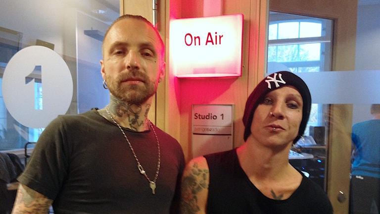 Nicke Borg och Dregen. Fotot: Lovisa Waldeck/Sveriges Radio