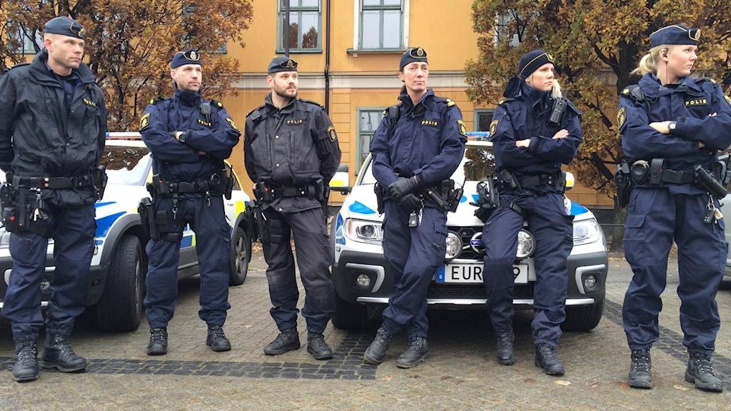 Swedish police under great strain. Photo: Christian Ströberg/Sveriges Radio