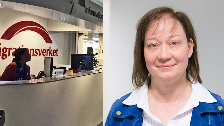 Elisabeth Boholm, chef på Migrationsverket region öst. Foto: P4 Östergötland & pressbild