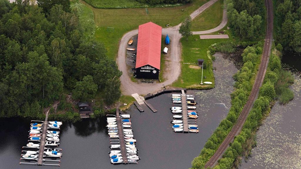 Gamla sågverkstomten vid Bestorps båtklubb. Foto: pressbild