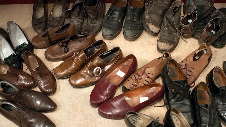 Målet att samla in 10 000 par skor har redan nåtts.