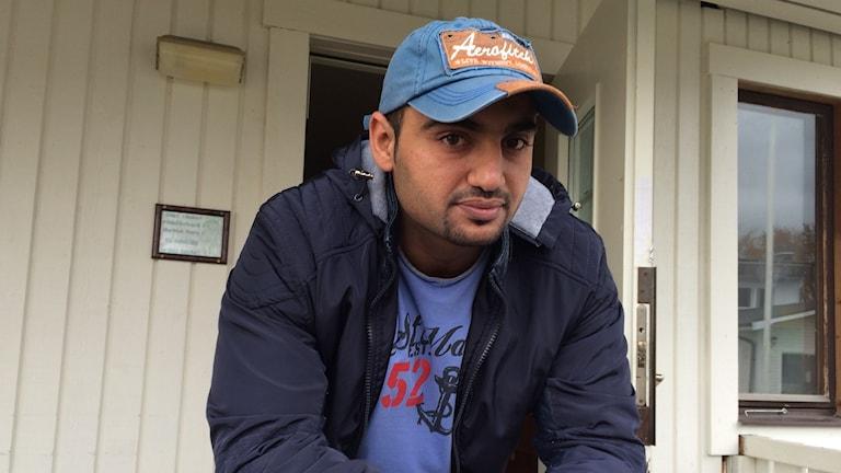 Ibrahim Sajfr från Syrien Foto: Maria Turdén/Sveriges Radio