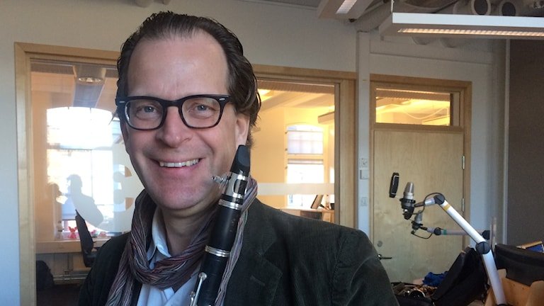 Staffan Mårtensson, klarinettist. Foto: Jessica Gredin/Sveriges Radio