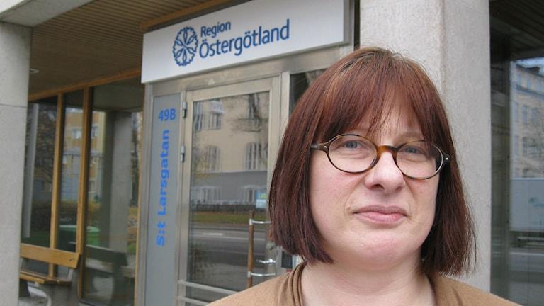 Margareta Fransson, Miljöpartiet, förste vice ordförande i regionfullmäktige. Foto: Christian Ströberg/Sveriges Radio.