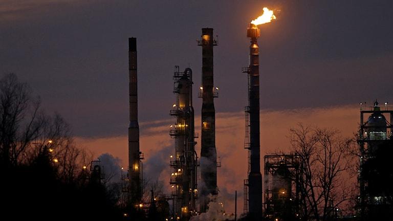 Exxon Mobil är ett av bolagen där pensionspengar placeras.  Foto: Gerald Herbert/AP/TT