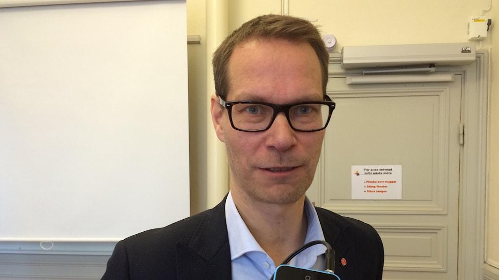Mikael Sanfridson(S)ordförande i äldrenämnden i Linköping Foto:Maria Turdén/Sveriges Radio