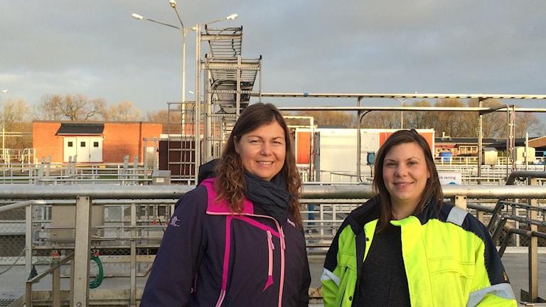 Sabina Thorblad och Jenny Ulvan, Tekniska Verken. Foto: Rosmari Karlsson Sveriges Radio