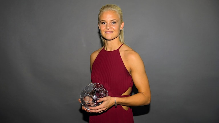 Pernille Harder på fotbollsgalan. Foto: Henrik Montgomery/TT