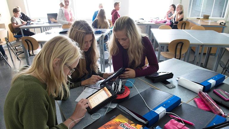 Digital undervisning med appar. Foto: Fredrik Sandberg / TT