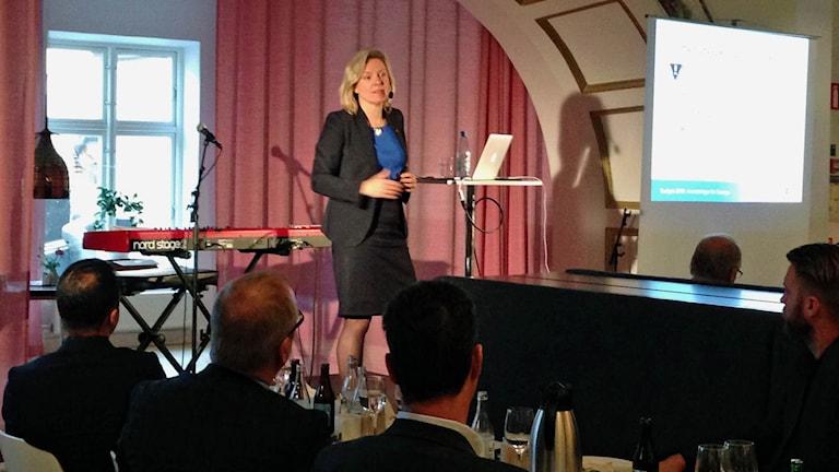 Finansminister Magdalena Andersson (S). Foto: Sofia Strindwall P4 Östergötland