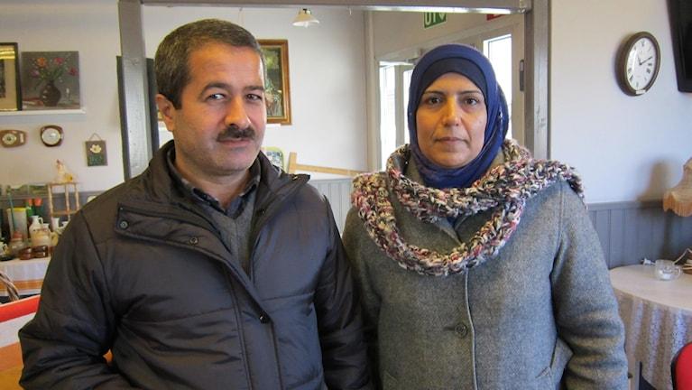 Hussein och Obaya Taa Taa. Foto: Raina Medelius/Sveriges Radio