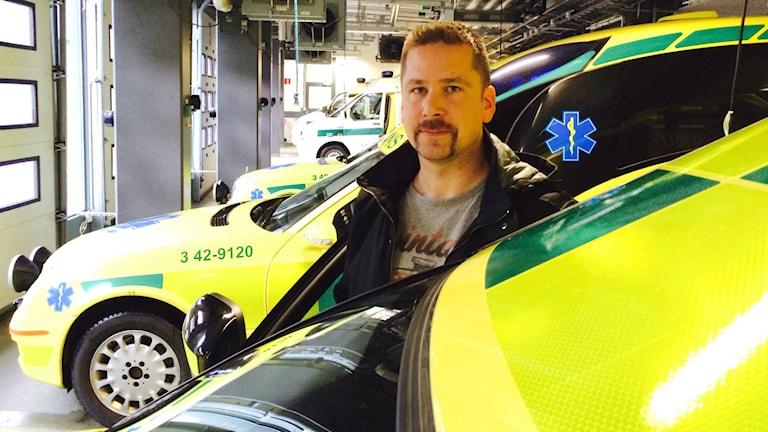 Pierre Conradsson, ambulanssjuksköterska. Foto: Christian Ströberg/Sveriges Radio.