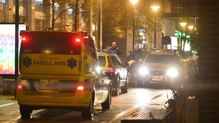 Mord och mordförsök i centrala Norrköping. Foto: Niklas Luks/Nyhetswebben.se