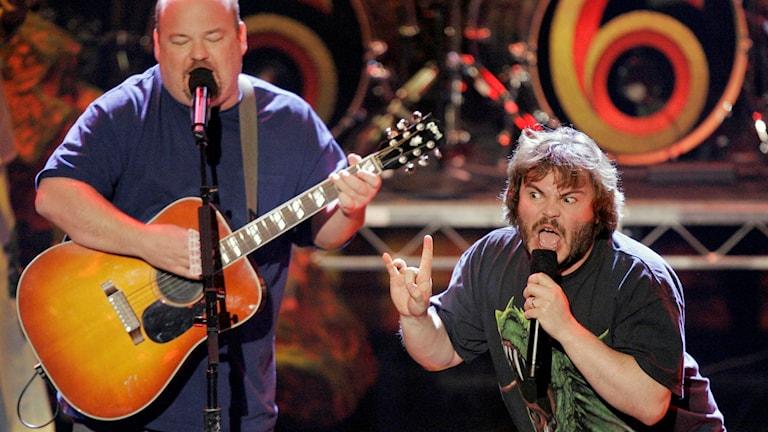 Amerikanska rockbandet Tenacious D kommer till Bråvallafestivalen. Foto: AP Photo/Mark J. Terrill / TT