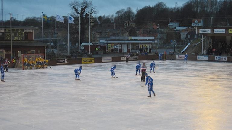 IFK Motala hörna Foto: Alexander Rudensten/sverigesradio