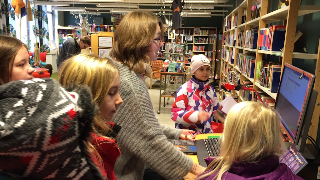 Skolbiblioteket på Alléskolan i Åtvidaberg Foto: Maria Turdén/Sveriges Radio