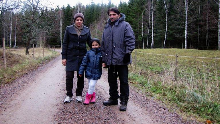 Ikram Taleb, Fahed Alkejek och dottern Aya 5 år