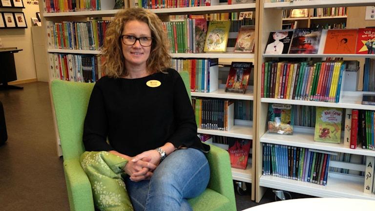 Jenny Seger, svensklärare på Hjulsbroskolan. Foto: Sofia Strindvall/Sveriges Radio