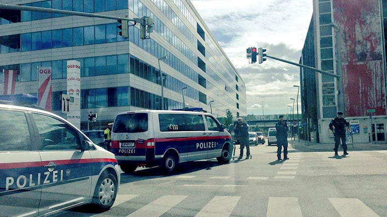 Polis i Österrike. Bilden är tagen vid ett annat tillfälle. Foto: Fayad Mulla/TT