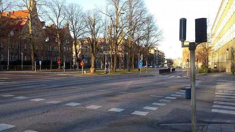 Korsningen Lindövägen/Östra promenaden. Foto: Sofia Strindvall/Sveriges Radio