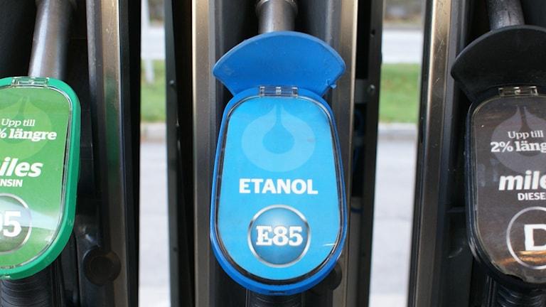 Etanolpump E85 Foto: Tahir Yousef/Sveriges Radio