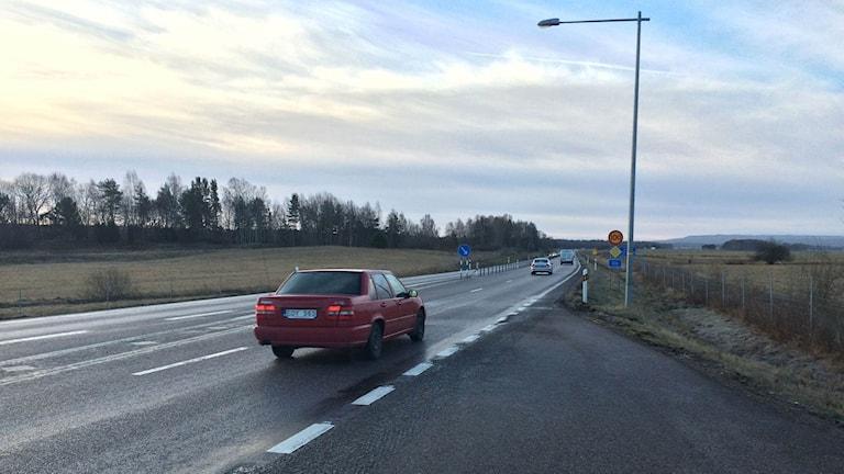 Det blir ännu mer frosthalka på tisdagmorgonen. Foto: Mats Öfweström P4 Skaraborg