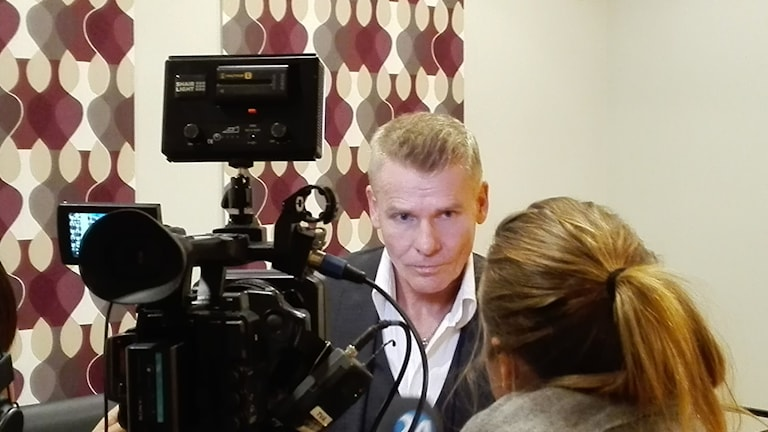 Jan Staaf, utredningschef, polisen i Östergötland. Foto: Tahir Yousef/Sveriges Radio