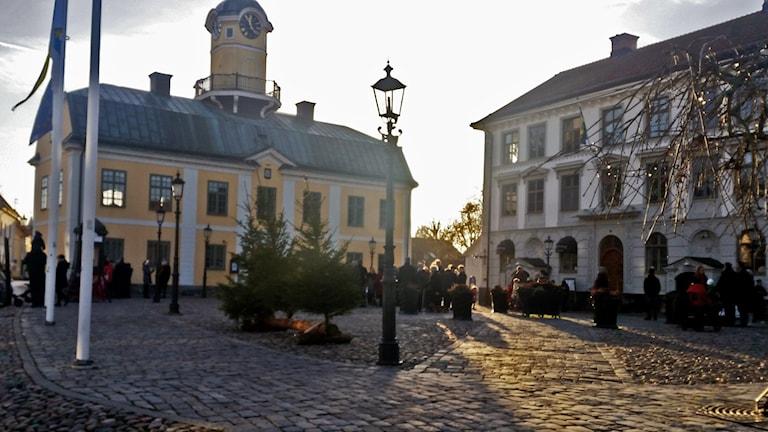 Rådhustorget i Söderköping. Foto: Malte Nordlöf/Sveriges Radio