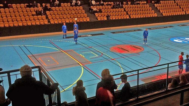 Östgöta innefotboll Cup hålls i Motala sporthall.