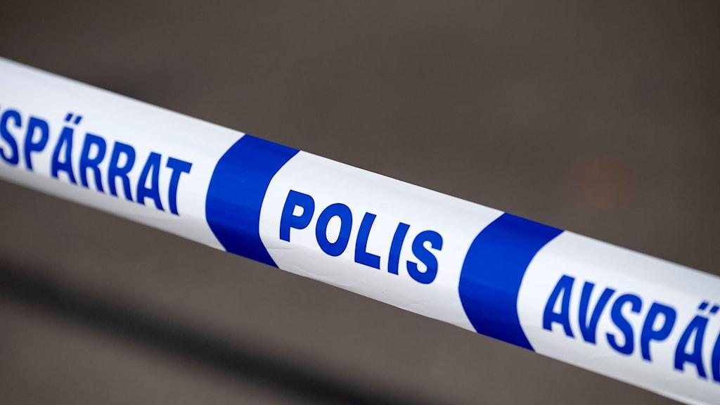 avspärrningsband Polisen