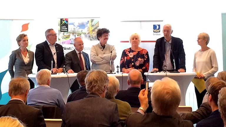 Sverigeförhandlingens presskonferens om Ostlänken.