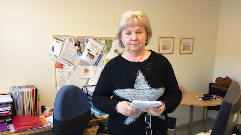 Kristina Fingal Karlsson, ordförande för regionanställda på Kommunal Foto:Lisen Elowson Tosting/Sveriges Radio