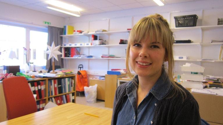 Lärare Malin Wilje på Malmslättskolan Tokarp. Foto: Raina Medelius/Sveriges Radio