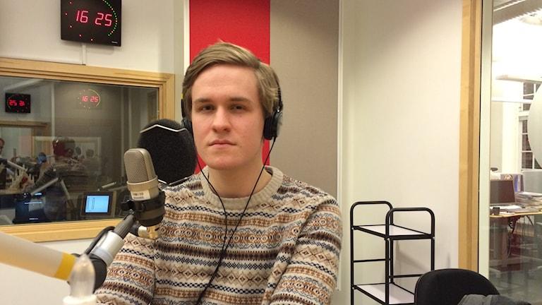 Sakarias Bergsén. Foto: Stefan Lindeberg/Sveriges Radio
