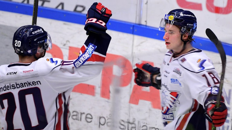 Hockeyspelare. Foto: Robert Granström/TT
